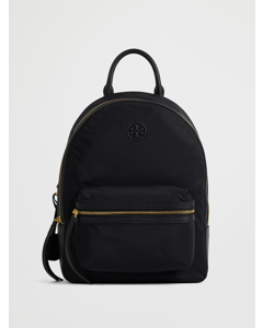 Perry Nylon Zip Backpack Black