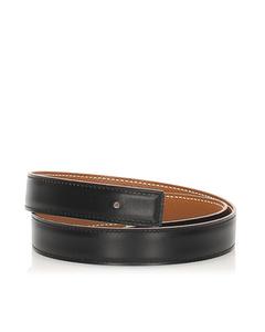 Hermes Reversible Leather Belt Black