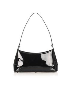 Burberry Patent Leather Shoulder Bag Black