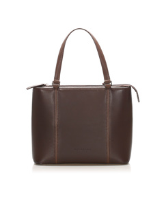 Burberry Leather Handbag Brown