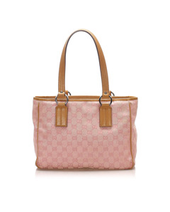Gucci Gg Canvas Tote Bag Pink