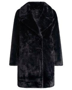 Overcoat In Synthetic Fur