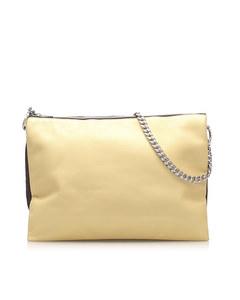 Celine Trio Chain Leather Shoulder Bag Brown