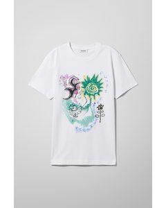 Relaxed Print T-shirt White/portrait Print