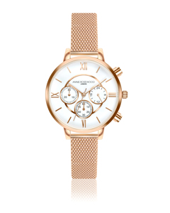 Ivy Chronograph Rose Gold Watch
