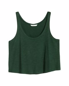 Cropped Tank Green