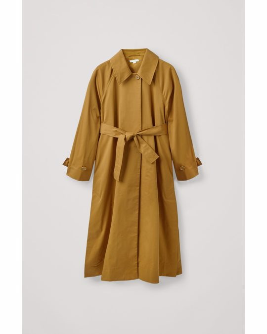 COS Oversized Trench Coat Light Brown
