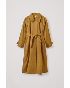 Cotton Oversized Trench Coat Light Brown