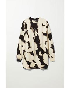 Sweatshirt Dress Bleach-dye