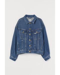 Jeansjacke aus Lyocellmix Blau