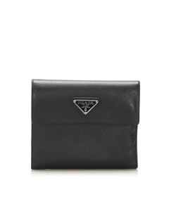 Prada Saffiano Small Wallet Black