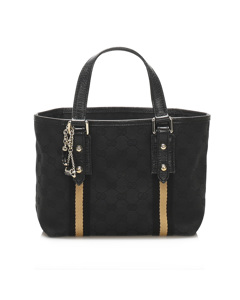 Gucci Gg Canvas Jolicoeur Handbag Black