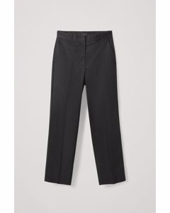 Ladder Stitch Trousers Black