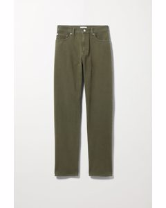 Space Washed Trousers Khaki Green