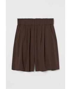 Shorts aus Lyocellmix Dunkelbraun