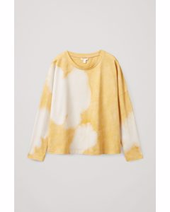 Boxy Long-sleeve Top Yellow / White