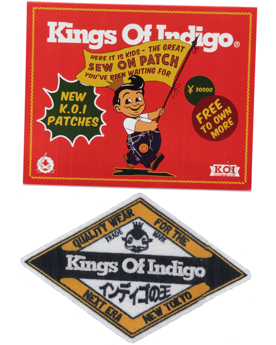 Kings of Indigo Badge New Tokyo White