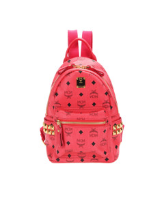 Mcm Visetos Stark Leather Backpack Pink