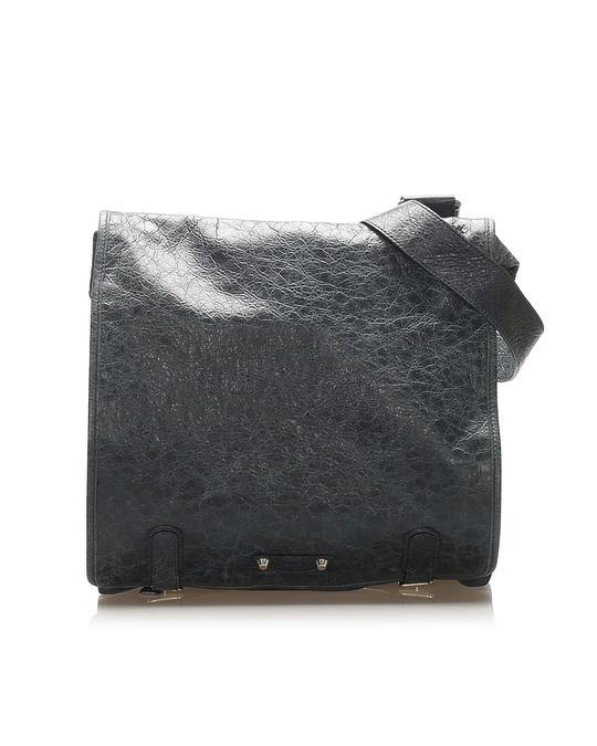 Balenciaga Balenciaga Agneau Messenger Leather Crossbody Bag Blue