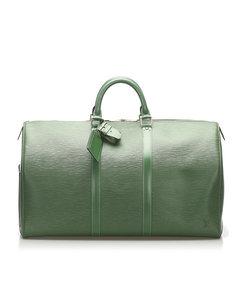 Louis Vuitton Epi Keepall 55 Green