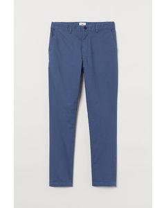 Baumwollchino Skinny Fit Stahlblau