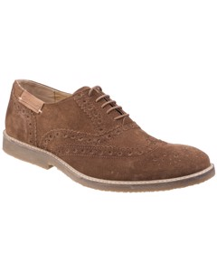 Cotswold Heren Chatsworth Suede Oxford Brogue Lace Up Casual Shoes