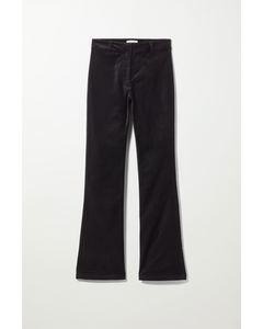 Rydel Flare Velvet Trouser  Black