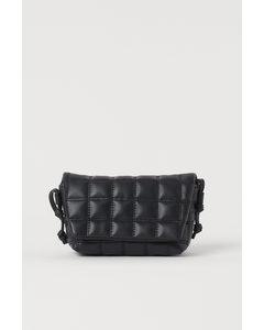 Doorgestikt Smartphonetasje Zwart