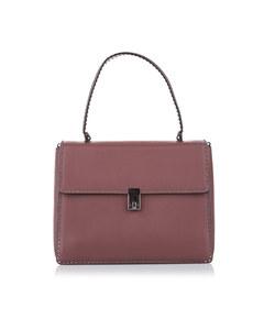 Valentino Rockstud Leather Satchel Pink
