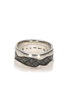 Bottega Veneta Intrecciato Ring Silver