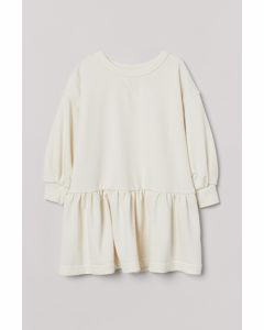 Sweatshirtklänning Crèmevit