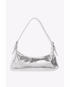 Double Buckle Hand Bag Silver-coloured