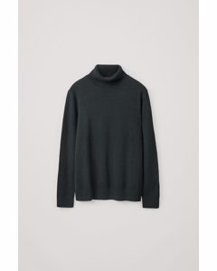 Yak Mix Roll-neck Jumper Forest Green