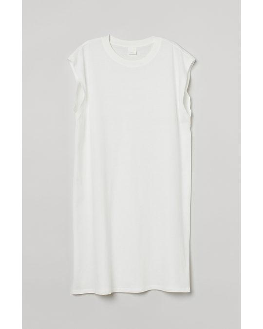 H&M Ärmelloses Jerseykleid Weiß