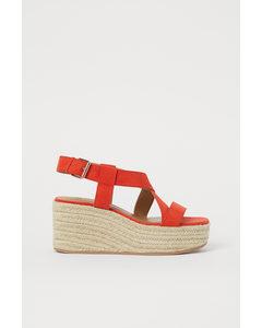 Sandaletter Med Kilklack Klarröd