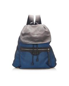 Balenciaga Motocross Classic Traveler S Backpack Blue