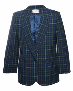 Pendleton Checked Wool Blazer