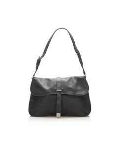 Prada Leather Shoulder Bag Black