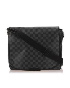 Louis Vuitton Damier Graphite District Mm Black