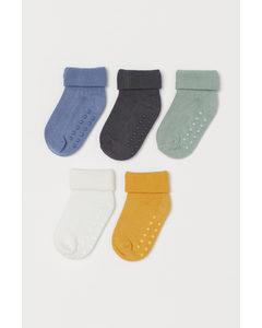 5er-Pack Socken Blau/Hellgrün