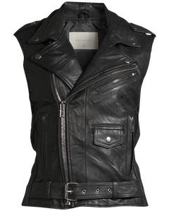Women's Biker Vest Black