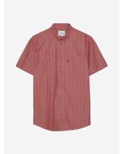 Nima S/s Stripe Shirt Relaxed Fitbrick Rose