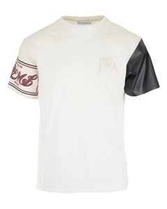 Contrast Sleeve T-shirt White