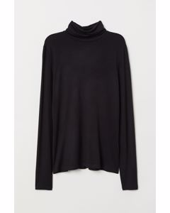 Tara Turtleneck Top Black