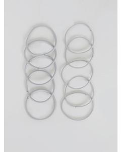 10-pack Mixed Hairstrings Grey
