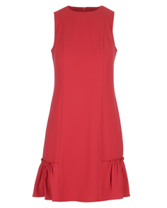 Sleeveless Ruffle Dress Red