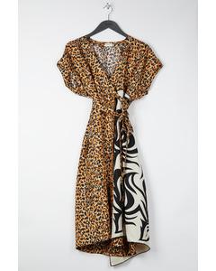 Animal Print Dress Black