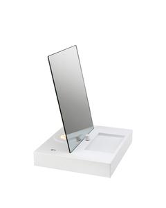 Reflektieren Sie die Tischlampe weiß mit USB.