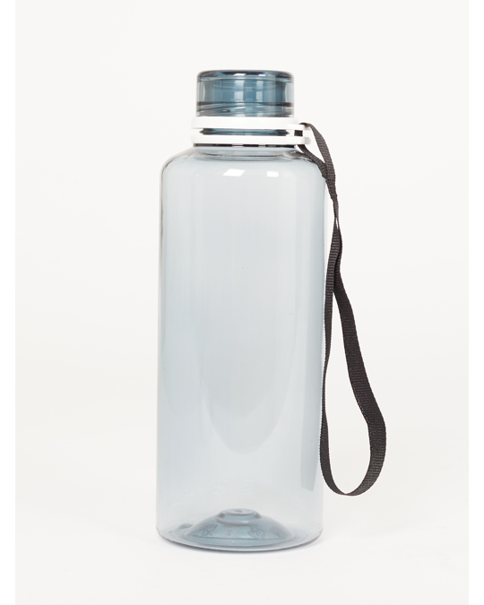 AFOUND OBJECTS Water Bottle  Fume Solid  Black Ribbon