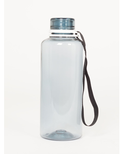 Water Bottle  Fume Solid  Black Ribbon